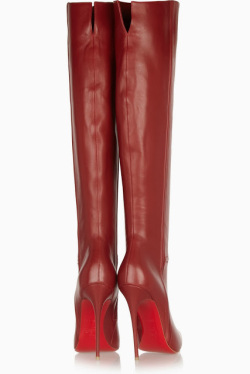 Shoe porn: Over the knee red boots